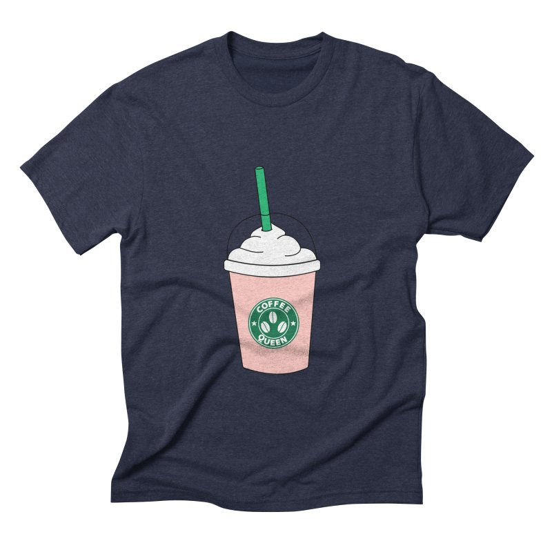 Coffee Queen Men's Triblend T-Shirt by Quirkitup's Artist Shop