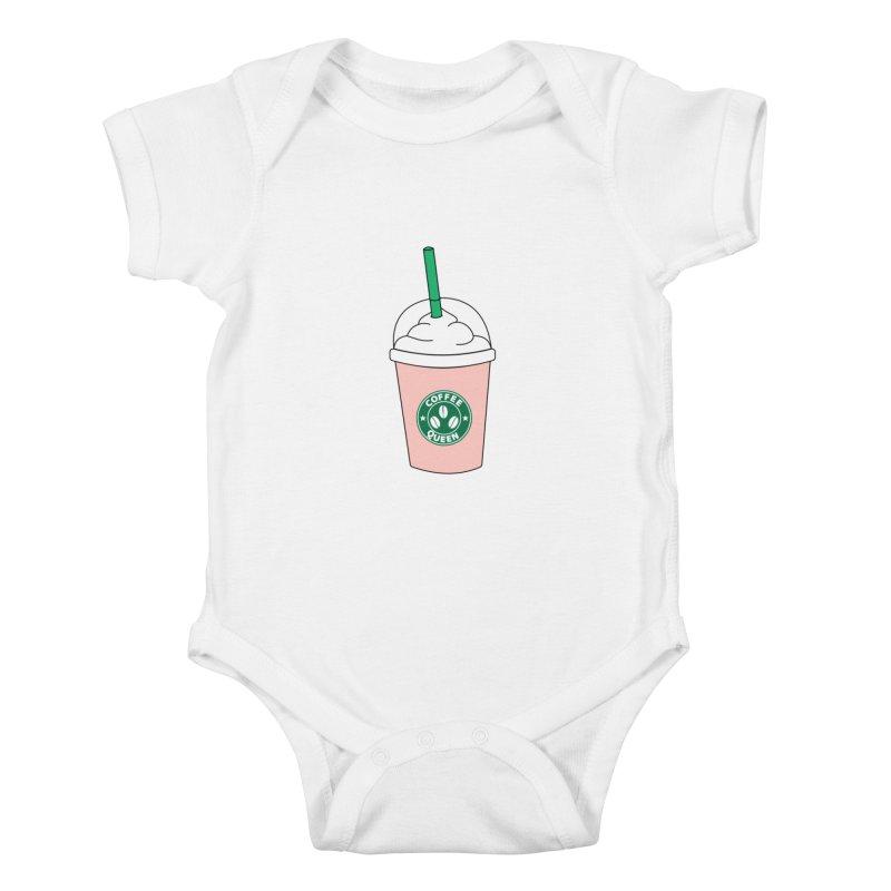 Coffee Queen Kids Baby Bodysuit by Quirkitup's Artist Shop
