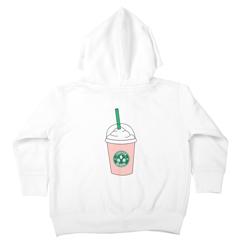 Coffee Queen Kids Toddler Zip-Up Hoody by Quirkitup's Artist Shop