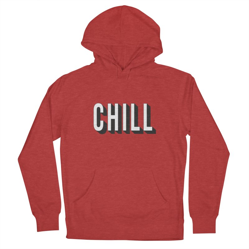 Chill Men's French Terry Pullover Hoody by Quirkitup's Artist Shop