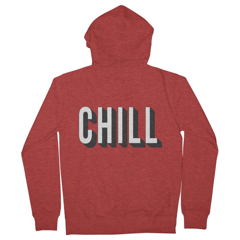 Chill Women's French Terry Zip-Up Hoody by Quirkitup's Artist Shop