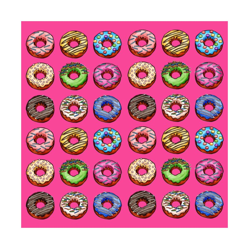 Donut Pattern by Quirkitup's Artist Shop