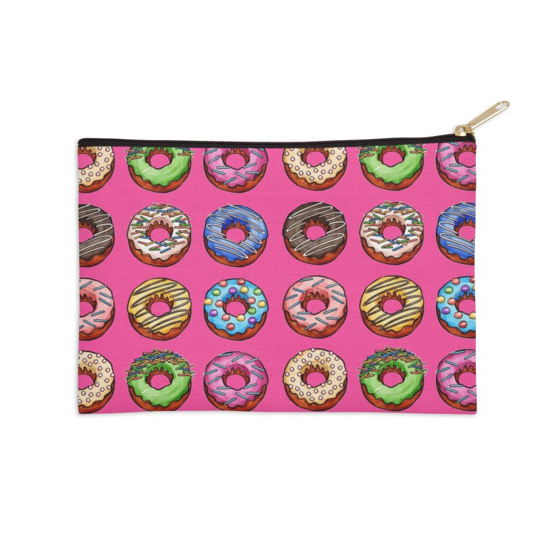 Donut Pattern Accessories Zip Pouch by Quirkitup's Artist Shop