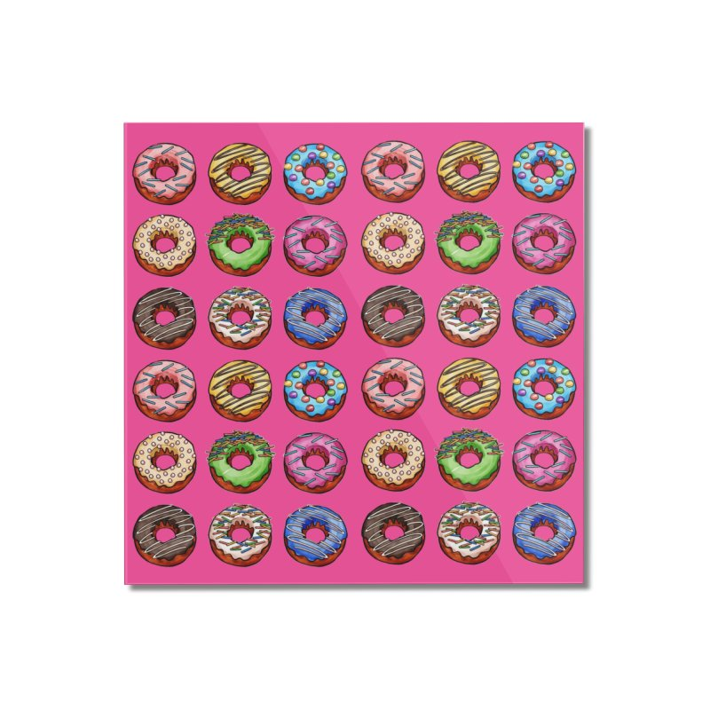 Donut Pattern Home Mounted Acrylic Print by Quirkitup's Artist Shop