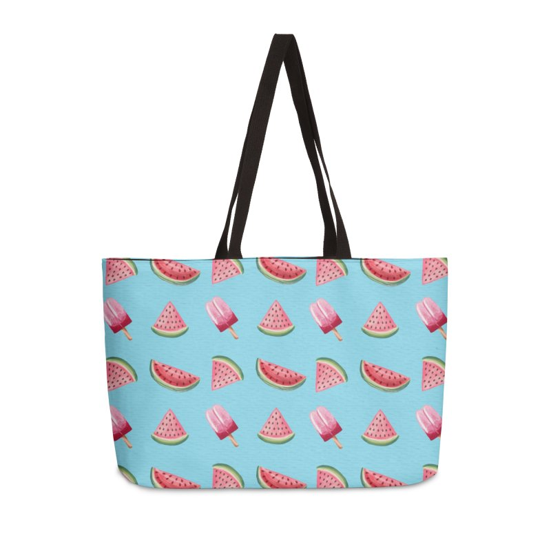 Watermelon Popsicle Pattern Accessories Weekender Bag Bag by Quirkitup's Artist Shop
