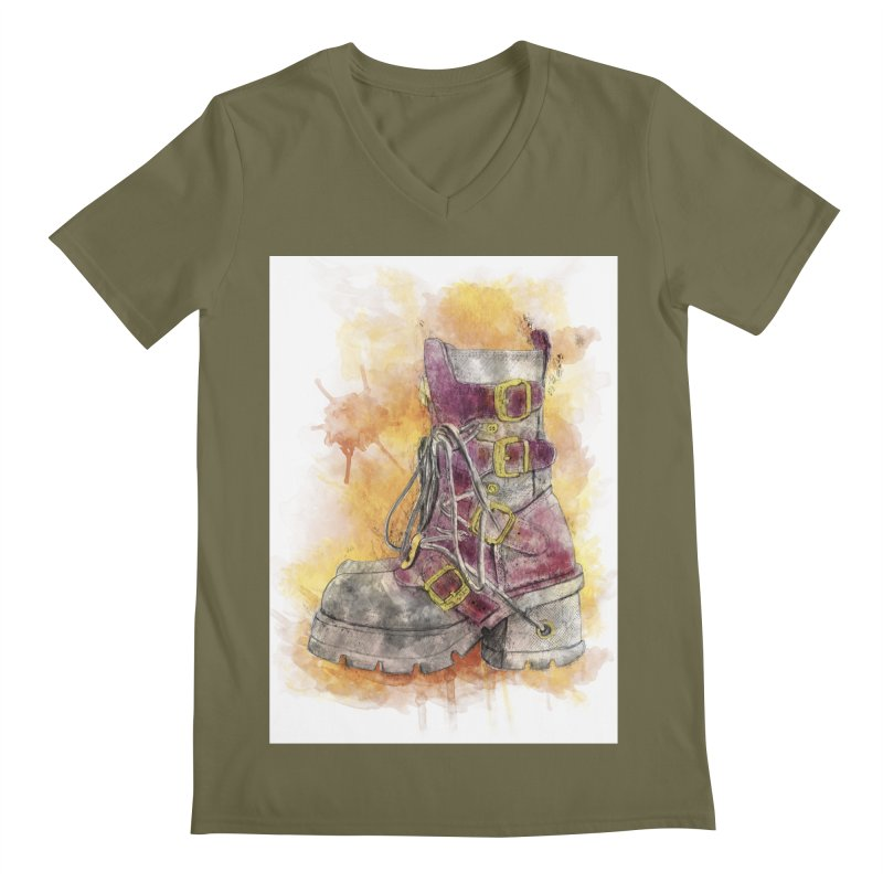 Boots Men's V-Neck by StuffByRabassa Artist Shop