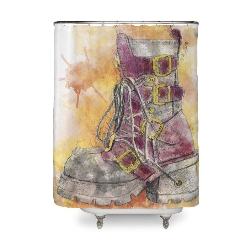Boots Home Shower Curtain by StuffByRabassa Artist Shop