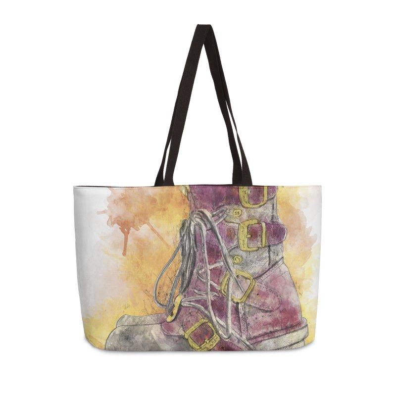 Boots Accessories Weekender Bag Bag by StuffByRabassa Artist Shop