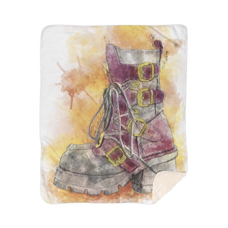 Boots Home Sherpa Blanket Blanket by StuffByRabassa Artist Shop