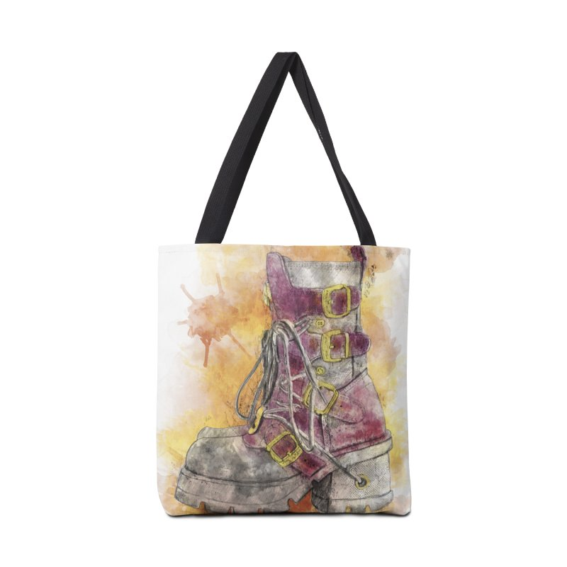 Boots Accessories Tote Bag Bag by StuffByRabassa Artist Shop