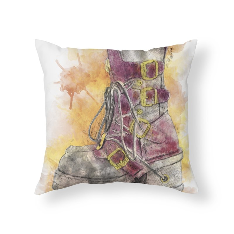 Boots Home Throw Pillow by StuffByRabassa Artist Shop