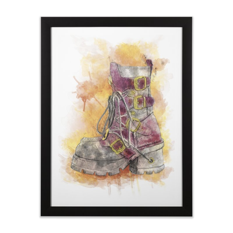 Boots in Framed Fine Art Print Black by StuffByRabassa Artist Shop