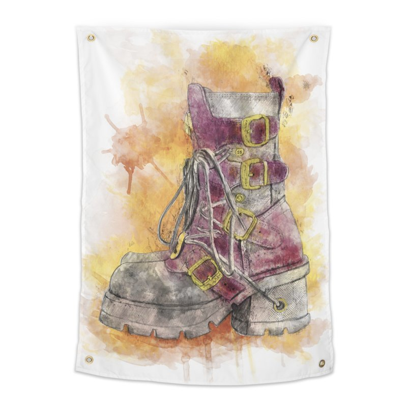 Boots Home Tapestry by StuffByRabassa Artist Shop