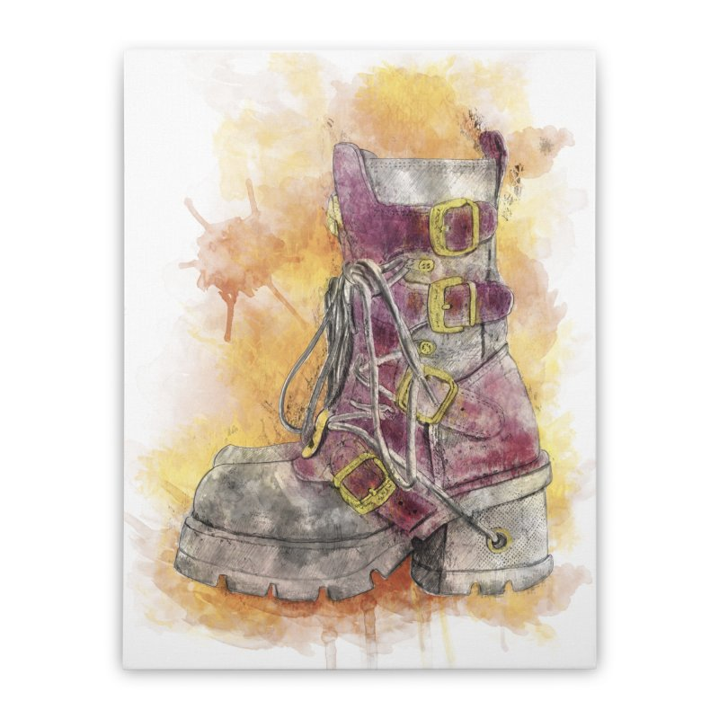 Boots Home Stretched Canvas by StuffByRabassa Artist Shop
