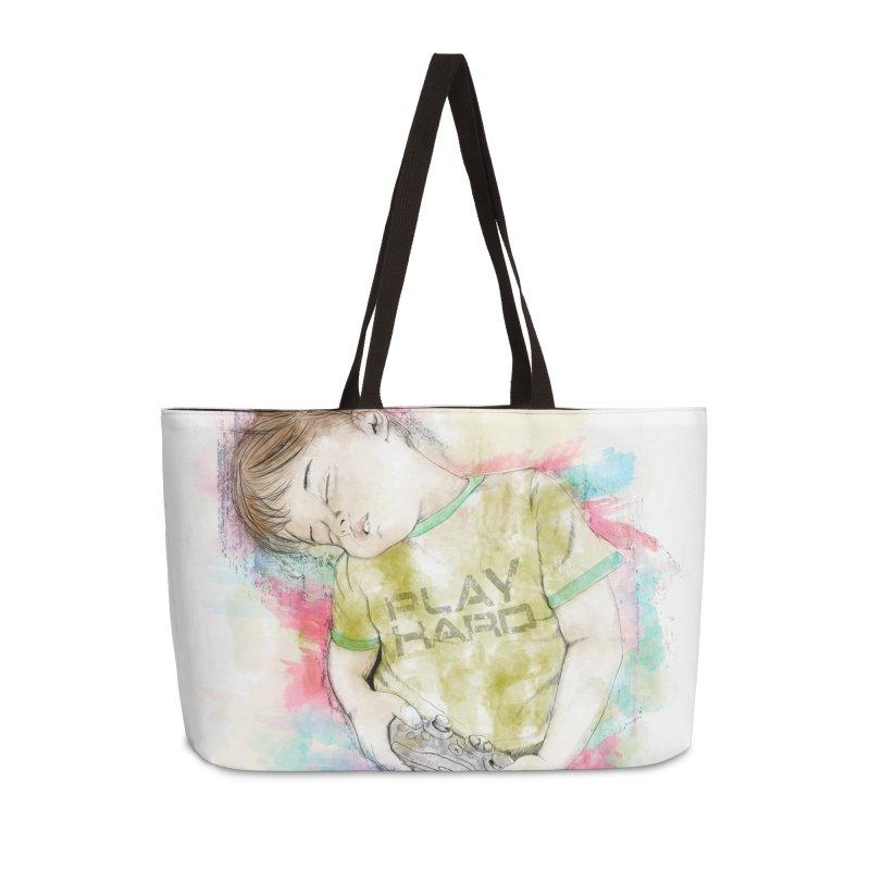 Play Hard Accessories Weekender Bag Bag by StuffByRabassa Artist Shop