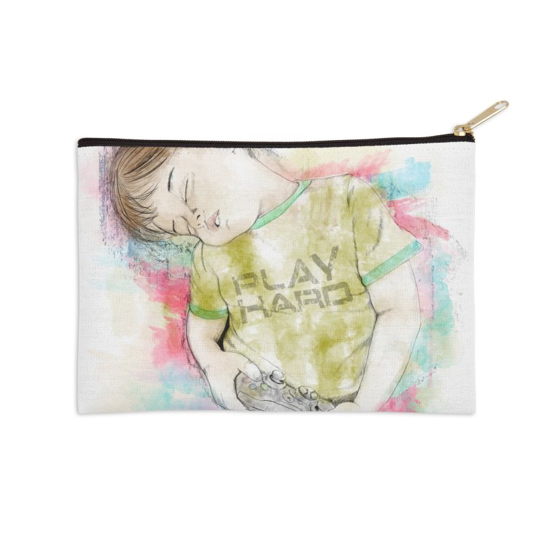 Play Hard Accessories Zip Pouch by StuffByRabassa Artist Shop