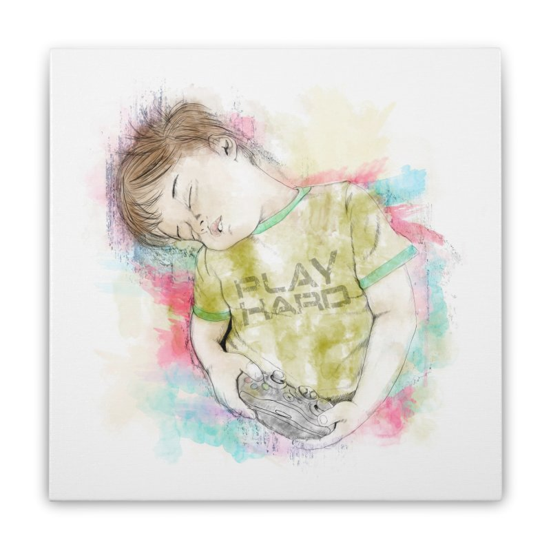 Play Hard Home Stretched Canvas by StuffByRabassa Artist Shop