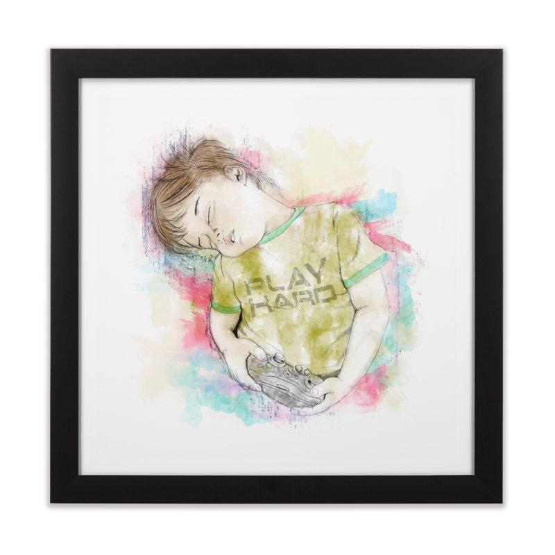 Play Hard Home Framed Fine Art Print by StuffByRabassa Artist Shop