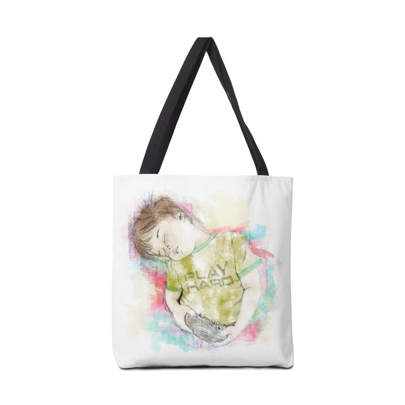 Play Hard Accessories Tote Bag Bag by StuffByRabassa Artist Shop