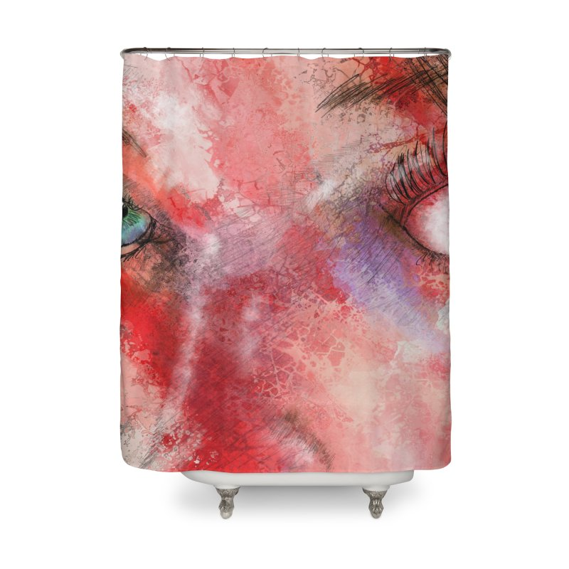 Eyes Home Shower Curtain by StuffByRabassa Artist Shop