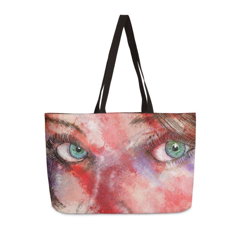 Eyes Accessories Weekender Bag Bag by StuffByRabassa Artist Shop