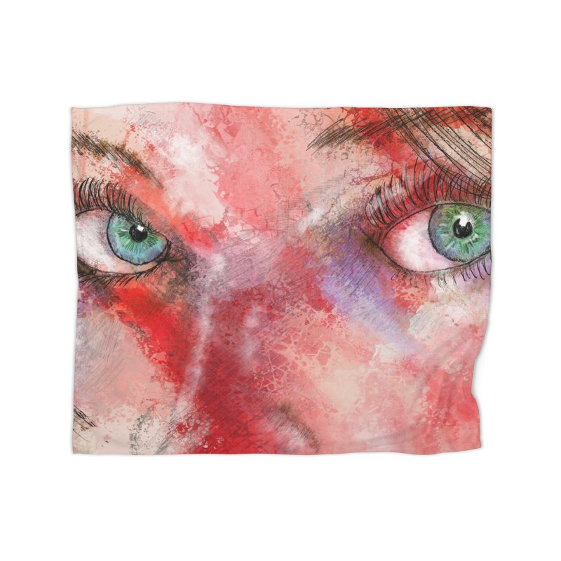 Eyes Home Fleece Blanket Blanket by StuffByRabassa Artist Shop