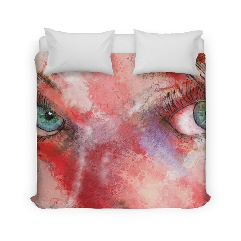 Eyes Home Duvet by StuffByRabassa Artist Shop