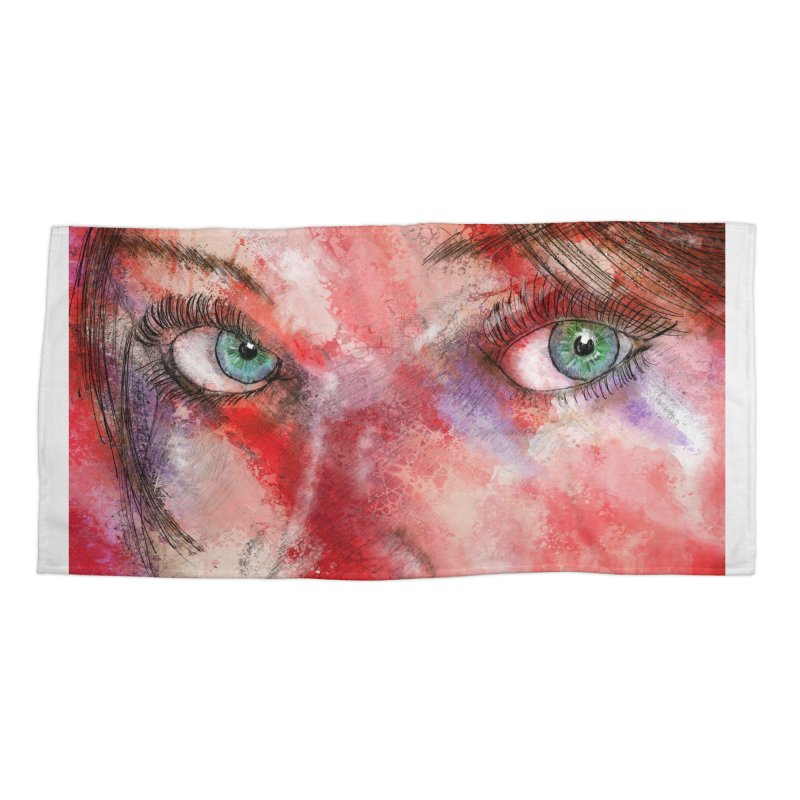 Eyes Accessories Beach Towel by StuffByRabassa Artist Shop