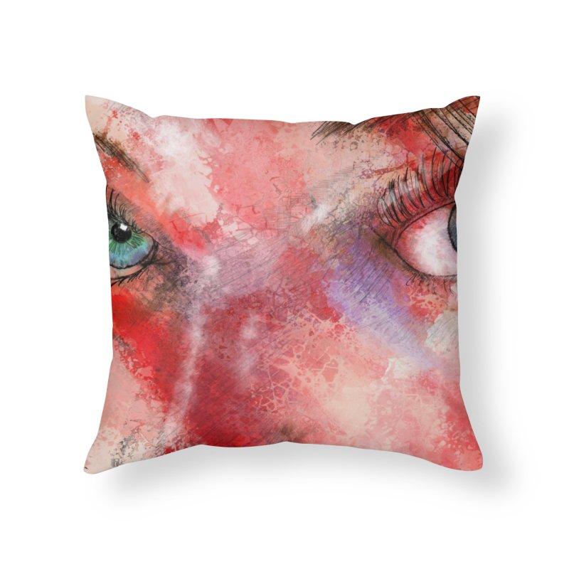 Eyes Home Throw Pillow by StuffByRabassa Artist Shop