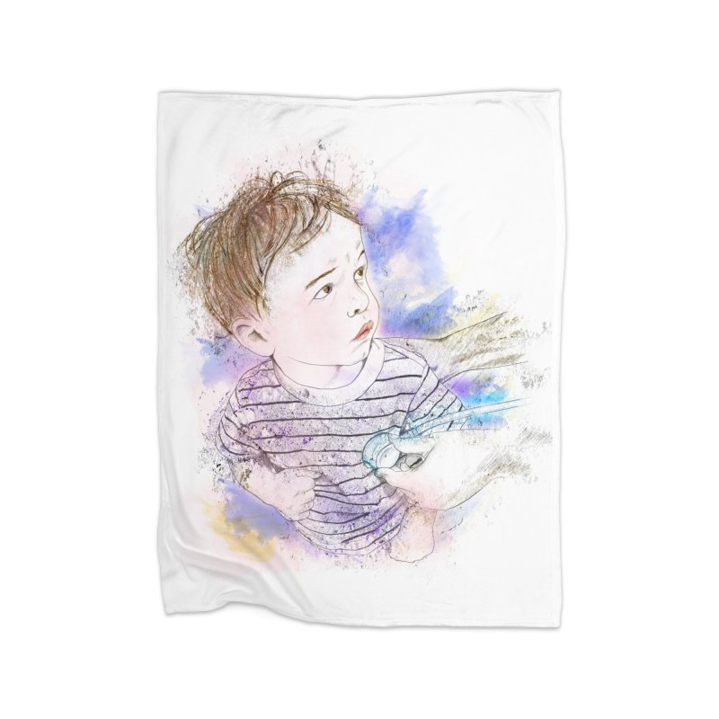 The Checkup Home Fleece Blanket Blanket by StuffByRabassa Artist Shop