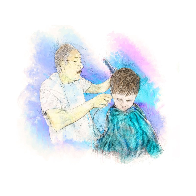 The Haircut Home Fine Art Print by StuffByRabassa Artist Shop