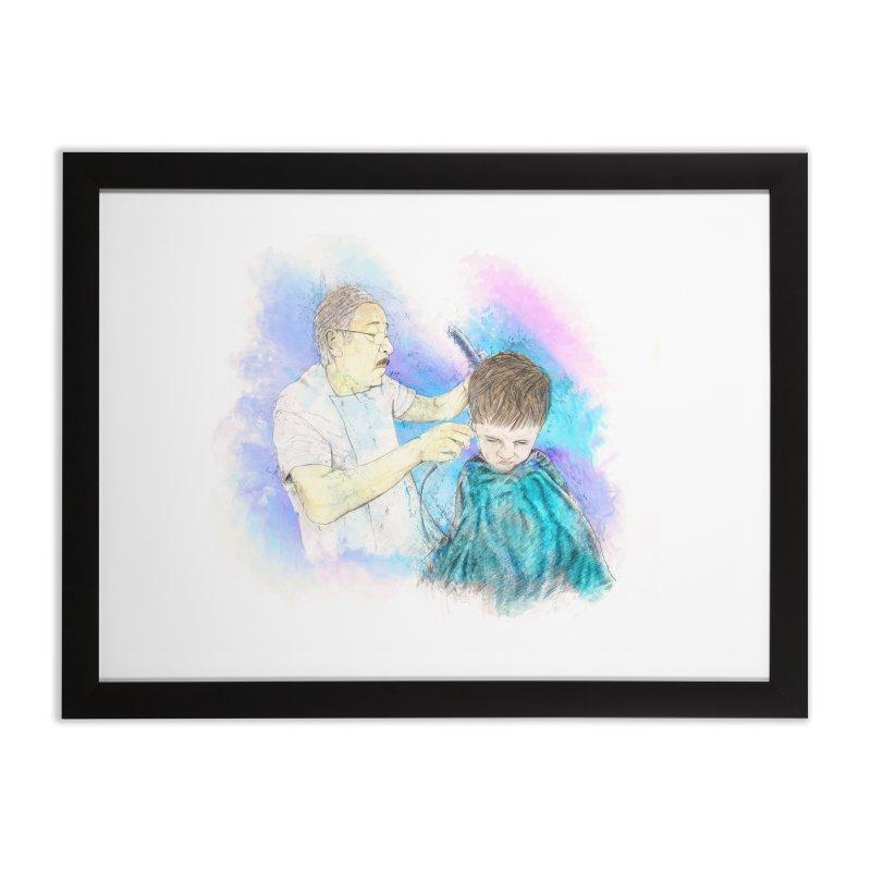 The Haircut Home Framed Fine Art Print by StuffByRabassa Artist Shop