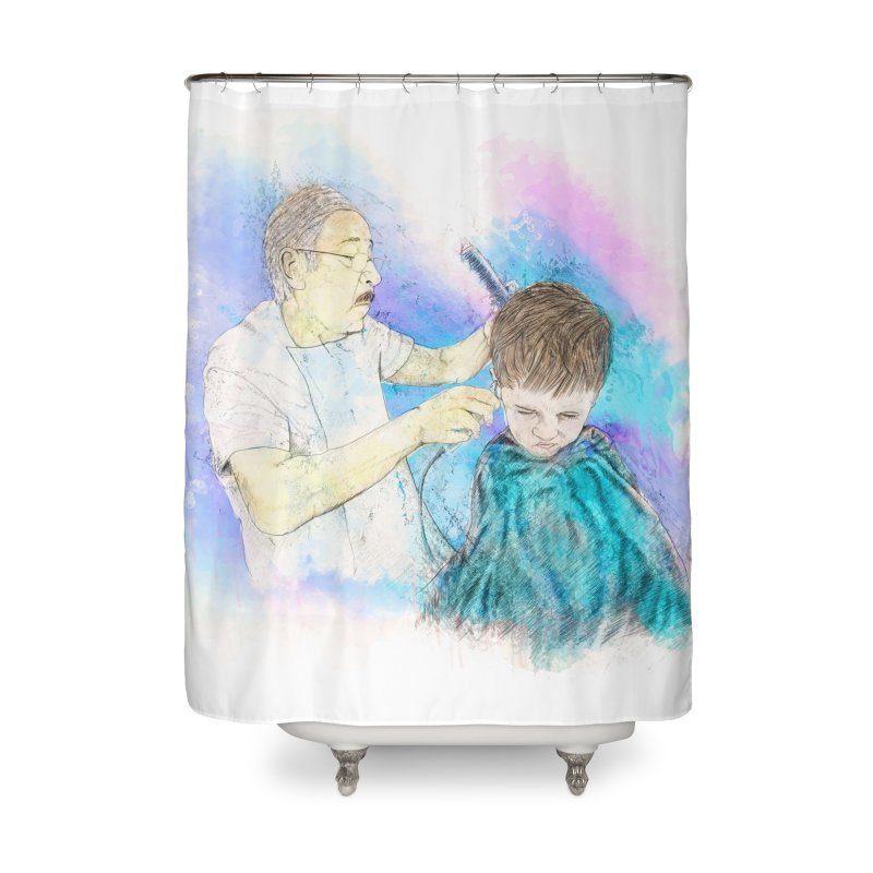 The Haircut Home Shower Curtain by StuffByRabassa Artist Shop