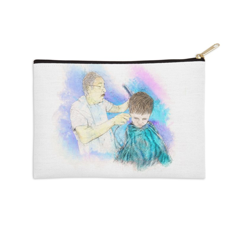 The Haircut Accessories Zip Pouch by StuffByRabassa Artist Shop