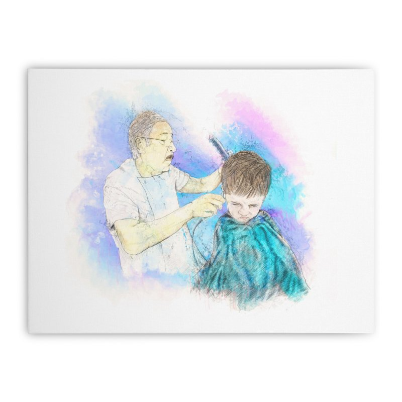 The Haircut Home Stretched Canvas by StuffByRabassa Artist Shop