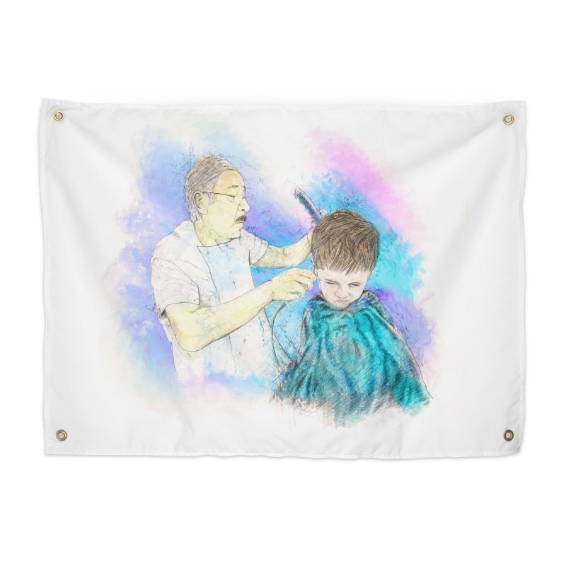 The Haircut Home Tapestry by StuffByRabassa Artist Shop