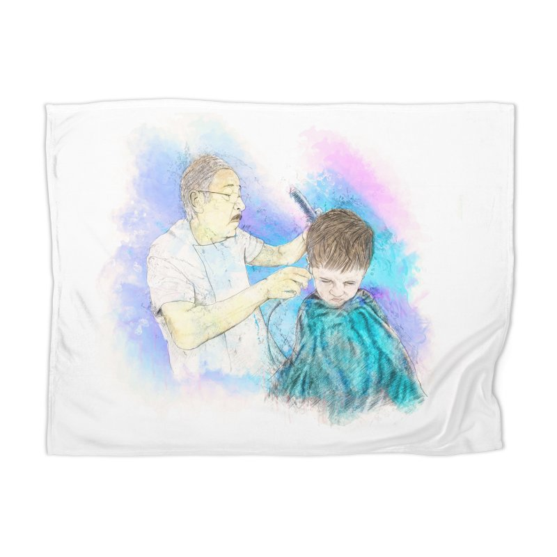 The Haircut Home Blanket by StuffByRabassa Artist Shop