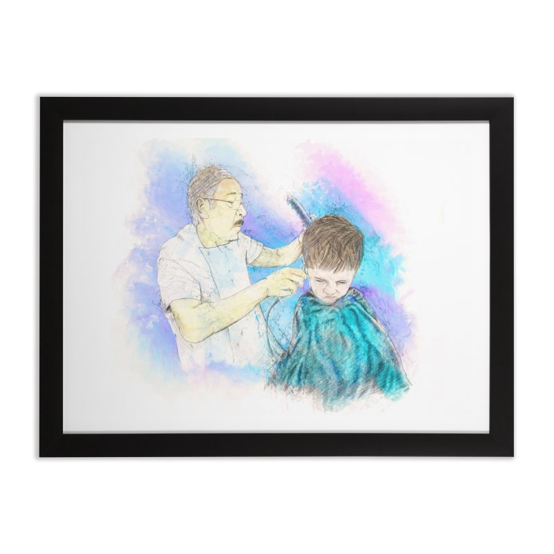 The Haircut Home Framed Fine Art Print by StuffByRabassa Artist Shop