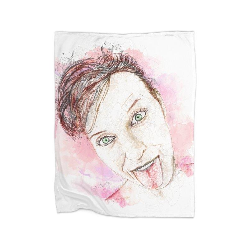 Crazy Wife Home Blanket by StuffByRabassa Artist Shop