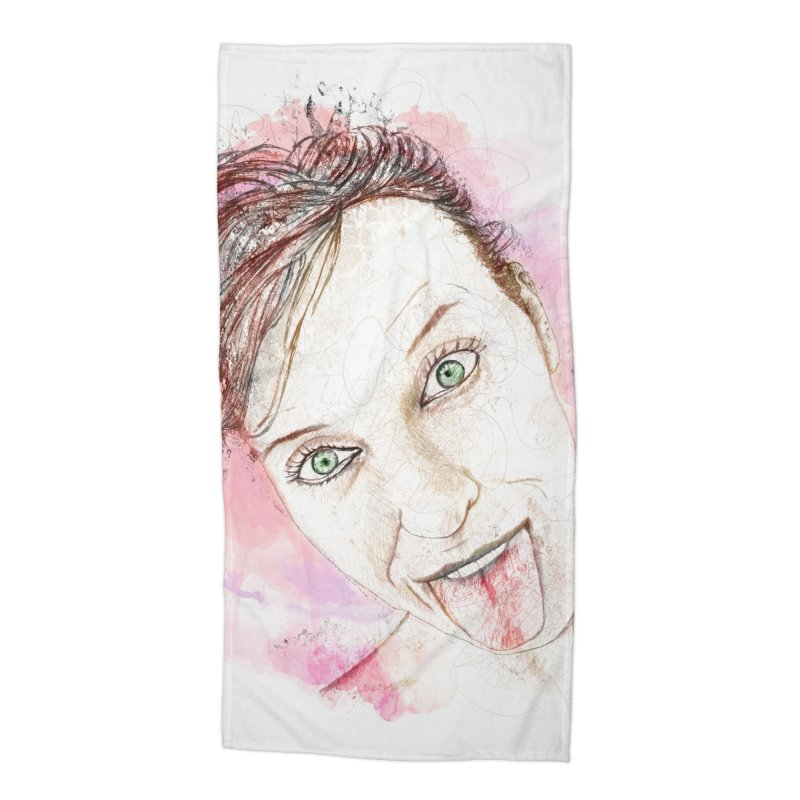 Crazy Wife Accessories Beach Towel by StuffByRabassa Artist Shop