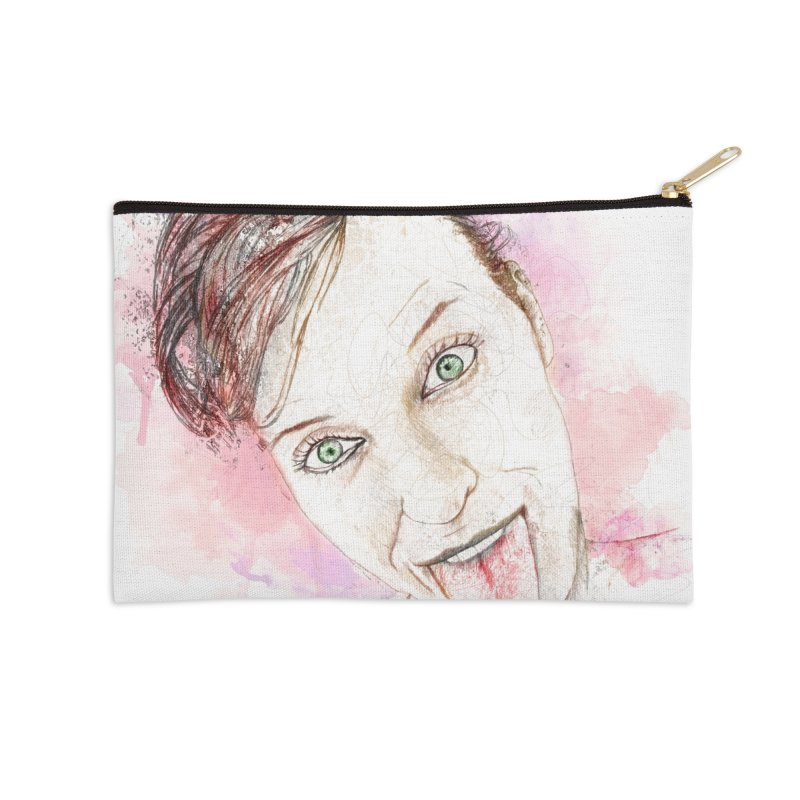 Crazy Wife Accessories Zip Pouch by StuffByRabassa Artist Shop