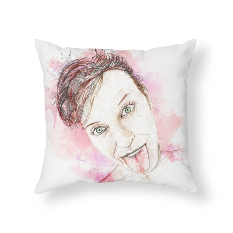 Crazy Wife Home Throw Pillow by StuffByRabassa Artist Shop