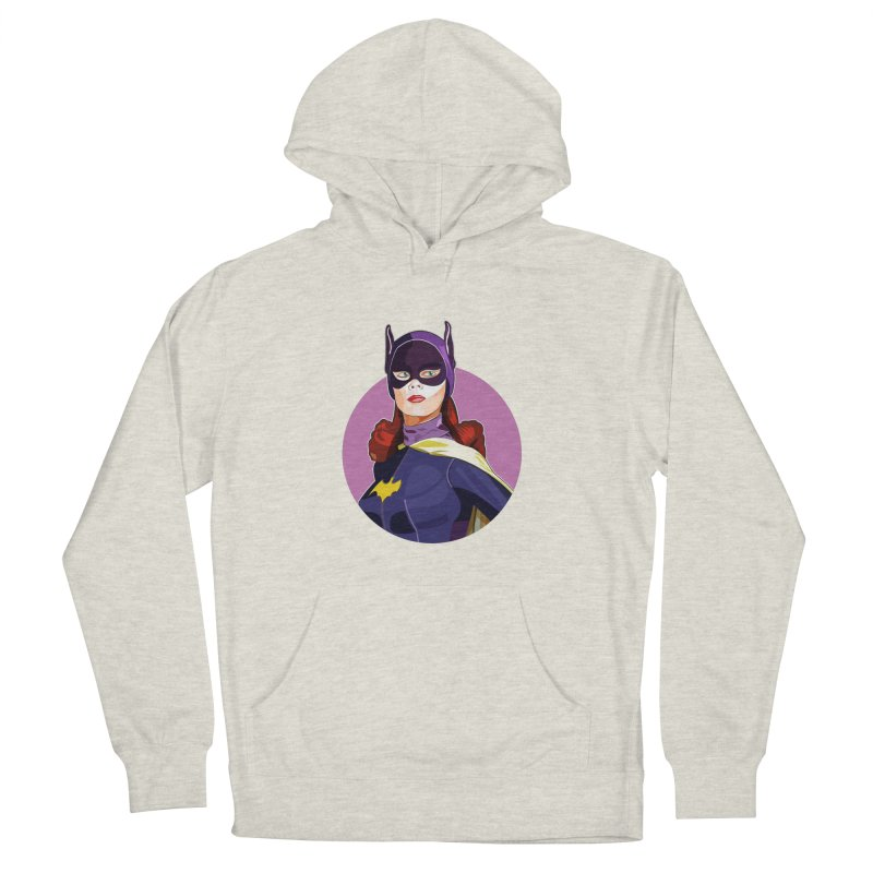 Batgirl Men's French Terry Pullover Hoody by StuffByRabassa Artist Shop