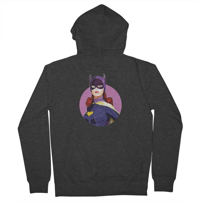 Batgirl Men's French Terry Zip-Up Hoody by StuffByRabassa Artist Shop