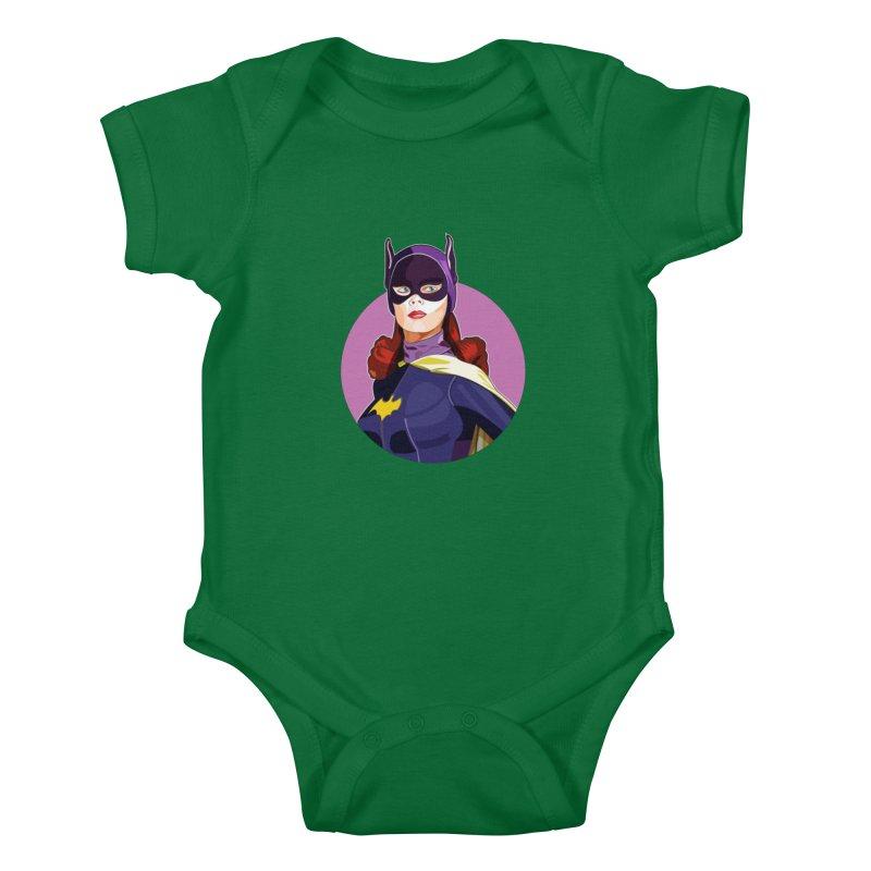 Batgirl Kids Baby Bodysuit by StuffByRabassa Artist Shop