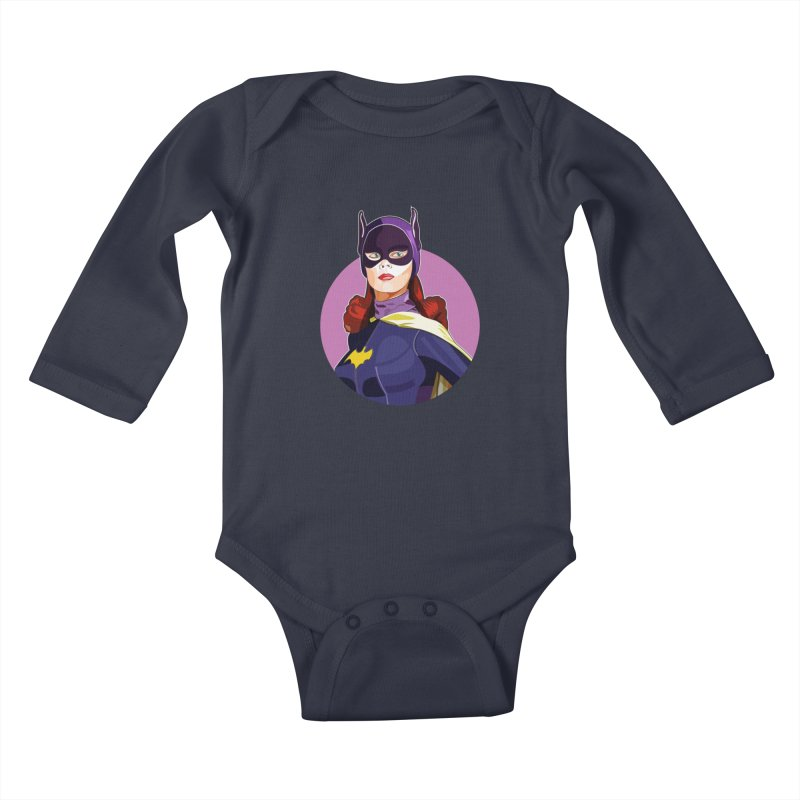 Batgirl Kids Baby Longsleeve Bodysuit by StuffByRabassa Artist Shop