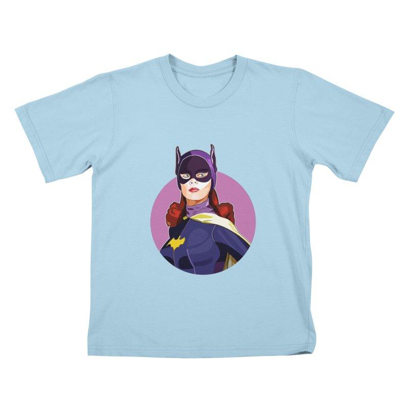 Batgirl Kids T-Shirt by StuffByRabassa Artist Shop