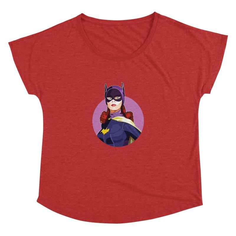Batgirl Women's Dolman Scoop Neck by StuffByRabassa Artist Shop