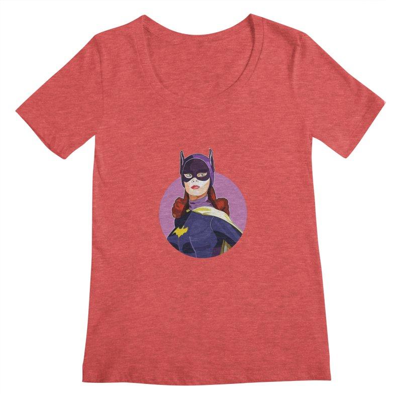 Batgirl Women's Scoopneck by StuffByRabassa Artist Shop