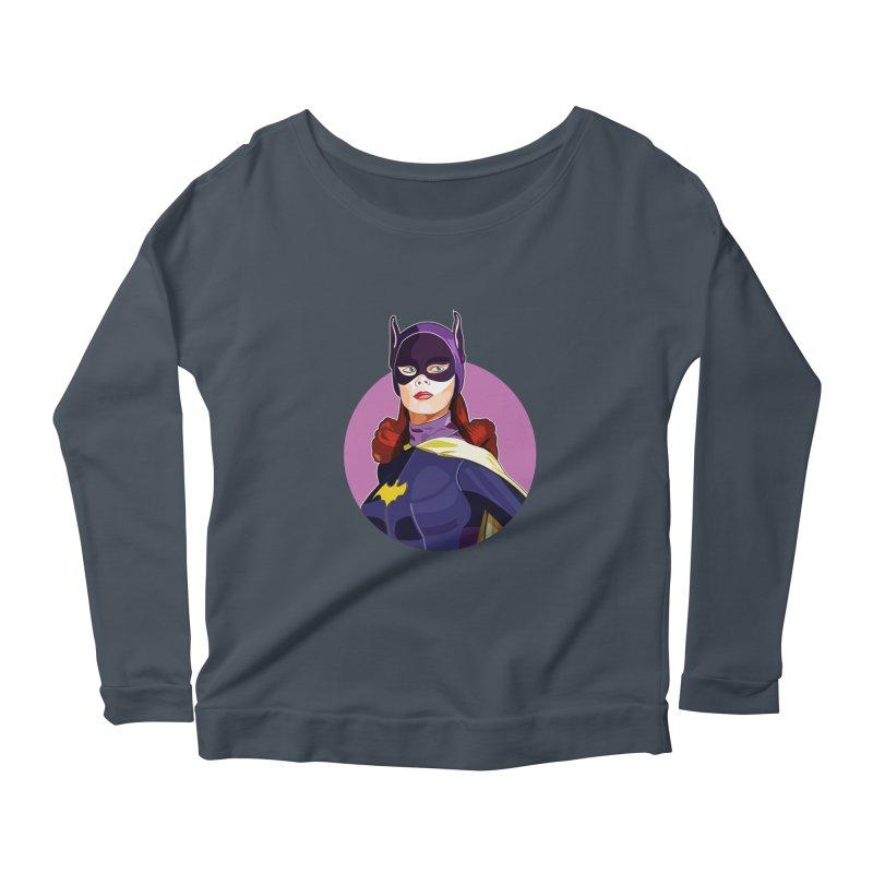 Batgirl Women's Longsleeve Scoopneck  by StuffByRabassa Artist Shop